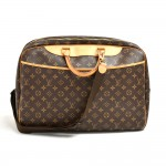 Louis Vuitton Alize 24 Heures Monogram Canvas Travel Bag + Strap