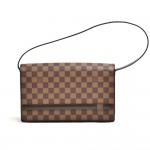 Louis Vuitton Tribeca Long Damier Ebene Canvas Shoulder Bag