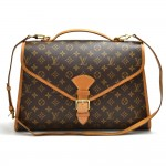 Vintage Louis Vuitton Beverly MM Monogram Canvas Briefcase Handbag + Strap