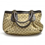 Gucci GG Canvas & Leather Scarlet Shoulder Tote Bag