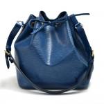 Vintage Louis Vuitton Petit Noe Blue Epi Leather Shoulder Bag 1990s