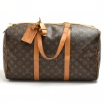 Vintage Louis Vuitton Sac Souple 45 Monogram Canvas Duffle Travel Bag