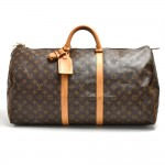 Vintage Louis Vuitton Keepall 55 Monogram Canvas Duffle Travel Bag