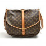 Vintage Louis Vuitton Saumur 35 Monogram Canvas Messenger Bag