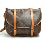 Vintage Louis Vuitton Saumur 40 Monogram Canvas Shoulder Bag
