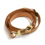 Louis Vuitton Brown Cowhide Leather Adjustable Shoulder Strap For Travel Bags