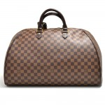 Louis Vuitton Ribera GM Ebene Damier Canvas Boston Bag