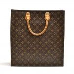 Vintage Louis Vuitton Sac Plat Monogram Canvas Tote Handbag