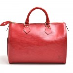 Vintage Louis Vuitton Speedy 30 Red Epi Leather City Handbag