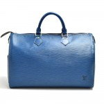 Vintage Louis Vuitton Speedy 35 Blue Epi Leather City Hand Bag