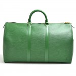 Vintage Louis Vuitton Keepall 50 Green Epi Leather Travel Bag