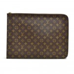 Vintage Louis Vuitton Poche Documents Monogram Canvas Clutch Bag