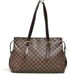 Louis Vuitton Chelsea Ebene Damier Canvas Large Shoulder Bag