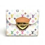 Louis Vuitton Joey White Multicolor Canvas Wallet