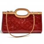 Louis Vuitton Roxbury Drive Red Vernis Leather Hand Bag + Strap