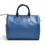 Louis Vuitton Speedy 25 Blue Epi Leather City Handbag