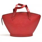 Vintage Louis Vuitton Saint Jacques PM Red Epi Leather Handbag