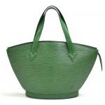 Vintage Louis Vuitton Saint Jacques PM Green Epi Leather Handbag