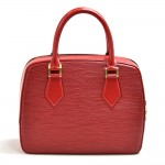 Louis Vuitton Sablon Red Epi Leather Handbag