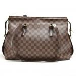 Louis Vuitton Chelsea Ebene Damier Canvas Large Shoulder Bag