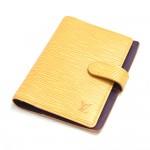 Vintage Louis Vuitton Yellow Epi Leather Agenda Fonctionnel PM 6 Rings