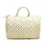 Louis Vuitton Speedy 30 Monogram Mini Lin Gray Handbag