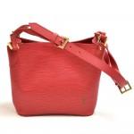 Louis Vuitton Mandara PM Red Epi Leather Shoulder Bag