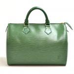 Vintage Louis Vuitton Speedy 30 Green Epi Leather City Handbag