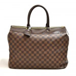 Vintage Louis Vuitton Greenwich PM Ebene Damier Canvas Large Handbag
