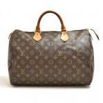 Vintage Louis Vuitton Speedy 35 Monogram Canvas City Handbag