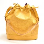Vintage Louis Vuitton Noe Large Yellow Epi Leather Shoulder Bag