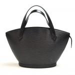Vintage Louis Vuitton Saint Jacques PM Black Epi Leather Handbag
