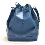 Vintage Louis Vuitton Noe Large Blue Epi Leather Shoulder Bag