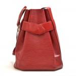 Vintage Louis Vuitton Sac Depaule GM Red Epi Leather Shoulder Bag