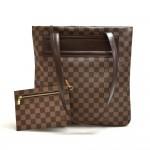 Vintage Louis Vuitton Clifton Ebene Damier Canvas Tote Bag + Pouch