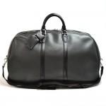 Vintage Louis Vuitton Kendall GM Black Taiga Leather Travel Bag + Strap