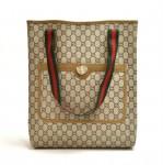 Vintage Gucci Plus Beige GG Plus Coated Canvas Shoulder Tote Bag - Limited