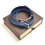 Louis Vuitton Blue Adjustable Leather Shoulder Strap For Small to Medium bags