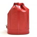 Vintage Louis Vuitton Randonee Red Epi Leather Shoulder Bag