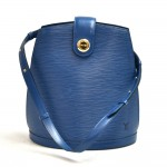 Vintage Louis Vuitton Cluny Blue Epi Leather Shoulder Bag