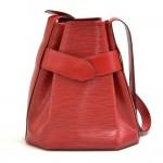 Vintage Louis Vuitton Sac Depaule PM Red Epi Leather Shoulder Bag