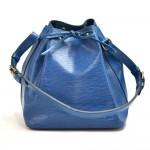 Vintage Louis Vuitton Petit Noe Blue Epi Leather Shoulder Bag