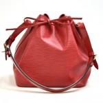 Vintage Louis Vuitton Petit Noe Red Epi Leather Shoulder Bag