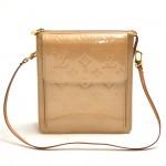 Louis Vuitton Mott Beige Vernis Leather Shoulder Bag
