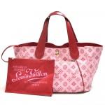 Louis Vuitton Cabas Ipanema PM Rose Red Monogram Cotton Beach Bag - 2009 Collection Plage