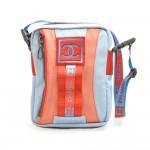 Chanel Travel Line Light Blue Nylon CC Logo Mini Crossbody Bag