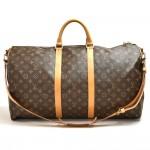 Vintage Louis Vuitton Keepall 55 Bandouliere Monogram Canvas Duffel Travel Bag + Strap