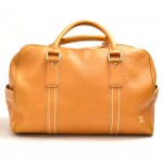 Louis Vuitton Carryall Orange Tobago Leather Travel Bag-Limited Edition