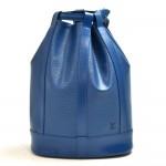 Vintage Louis Vuitton Randonee GM Blue Epi Leather Shoulder Bag