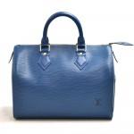 Vintage Louis Vuitton Speedy 25 Blue Epi Leather City Handbag